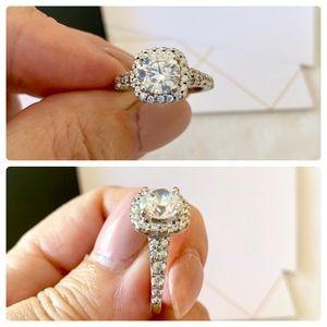 """Diamond Nexus Jewelry - Diamond Nexus """"Budapest"""" 14k halo engagement ring"""